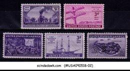 UNITED STATES - 1944 COMMEROATIVE SCOTT#922-926 5V MINT NH - Vereinigte Staaten