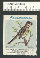 B53-05 CANADA Quebec Conservation QFFGA MNH Bird Song Sparrow - Local, Strike, Seals & Cinderellas