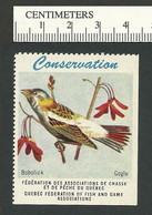 B53-09 CANADA Quebec Conservation QFFGA MNH Bird Bobolink - Local, Strike, Seals & Cinderellas