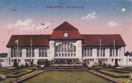 AK Darmstadt - Hauptbahnhof - Feldpost - 1918 (37359) - Darmstadt