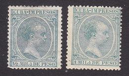 Cuba, Scott #P25-P26, Mint Hinged, King Alfonso XIII, Issued 1896 - Cuba (1874-1898)