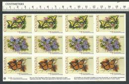 B53-18 CANADA Lung Association Nature Seals 2000 MNH Butterflies - Local, Strike, Seals & Cinderellas