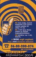 TARJETA TELEFONICA DE HUNGRIA. 1% NIOK. HU-P-2001-01. (039) - Hungría