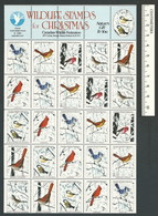 B53-22 CANADA Canadian Wildlife Federation Xmas Seals Sheet 1982 MNH - Local, Strike, Seals & Cinderellas