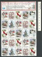 B53-23 CANADA Canadian Wildlife Federation Xmas Seals Sheet 1984 MNH English - Local, Strike, Seals & Cinderellas