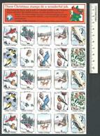 B53-24 CANADA Canadian Wildlife Federation Xmas Seals Sheet 1986 MNH English - Local, Strike, Seals & Cinderellas