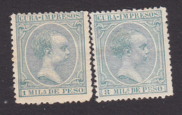 Cuba, Scott #P26, P30, Mint Hinged, King Alfonso XIII, Issued 1896 - Cuba (1874-1898)