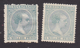 Cuba, Scott #P26, P26, Mint Hinged, King Alfonso XIII, Issued 1896 - Cuba (1874-1898)