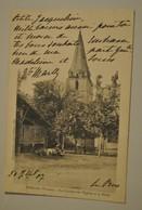 86 Vienne Persac Le Clocher De L Eglise Et La Halle Pliure Coin Haut Droit - France
