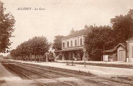 ALLEREY  -  La Gare  ( Avec Train ) - Sonstige Gemeinden