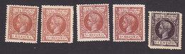 Cuba, Scott #156-158, 160-161, Mint Hinged, King Alfonso XIII, Issued 1898 - Cuba (1874-1898)