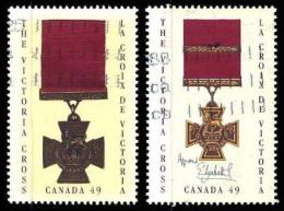 Canada (Scott No.2065-66 - Croix / Victoria / Cross) (o) - 1952-.... Règne D'Elizabeth II
