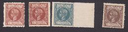 Cuba, Scott #158, 160, 162-163, Mint Hinged, King Alfonso XIII, Issued 1898 - Cuba (1874-1898)
