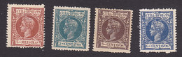 Cuba, Scott #160, 162-163, 166, Mint Hinged, King Alfonso XIII, Issued 1898 - Kuba (1874-1898)
