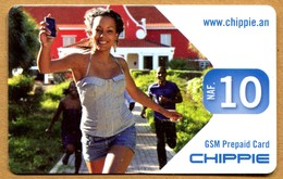 Curaçao UTS - Chippie - Girl With Mobile Phone 10 NAF (31/12/2013) - Antilles (Netherlands)