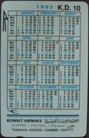 Kuwait - GPT, 1KWAB, Calendar, 10K.D., 10.000ex, 1993, Used - Kuwait