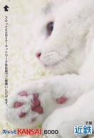 Carte Prépayée Japon - ANIMAL - CHAT - CAT Japan Prepaid Lagare Card 5000 - KATZE - GATTO - 4770 - Katten