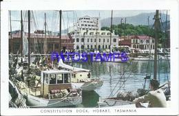 102332 AUSTRALIA TASMANIA CONSTITUTION DOCK & SHIP PUBLICITY PENTOTHAL SODICO ABBOTT POSTAL POSTCARD - Publicité