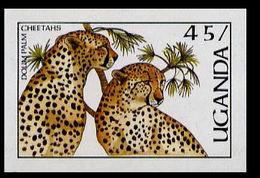 UGANDA 1987 Cheetas 45s IMPERF. - Uganda (1962-...)