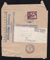 """Zeitungmarke 10 Pfg. Auf Stärker Beschädigtem Streifband Der """"Kölnische Zeitung"""" - Allemagne"""