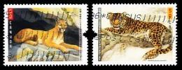 Canada (Scott No.2122-23 - Gros Chats / Big Cats) (o) Paire - 1952-.... Règne D'Elizabeth II