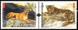 Canada (Scott No.2123a - Gros Chats / Big Cats) (o) Paire - 1952-.... Règne D'Elizabeth II