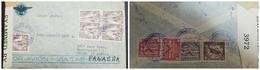 O) 1942 BOLIVIA, AIRMAIL VIA LAB PANAGRA, STATUE OF MURILLO SCOTT 270 10c, CONDOR SC 265 2b, JAGUAR SC 268 5b, CENSORSHI - Bolivia