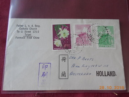 Lettre De Formose Pour Amsterdam (date Inconnue) - 1945-... République De Chine