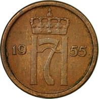 Monnaie, Norvège, Haakon VII, Ore, 1955, TTB, Bronze, KM:398 - Norvège