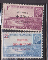 MARTINIQUE       N° YVERT  :   196/197   NEUF SANS CHARNIERE        ( NSCH 10  ) - Nuovi