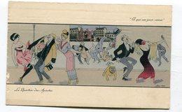 CPA Illustrateur :  SAGER Xavier  Quartier Des Apaches Et Moulin Rouge    VOIR DESCRIPTIF  §§§ - Sager, Xavier