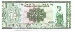Paraguay  P-193  1  Guarani  1952  UNC - Paraguay