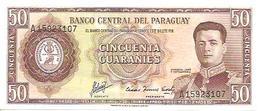 Paraguay  P-197  50  Guaranies  1952  UNC - Paraguay
