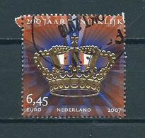 2007 Netherlands 6,45 EURO 200 Jaar Koninklijk Used/gebruikt/oblitere(see Scan For Condition) - Periode 1980-... (Beatrix)