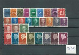 1950/54 Netherlands New Guinea Complete Sets Definitives Used/gebruikt/oblitere(D-05) - Nederlands Nieuw-Guinea