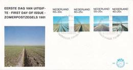 Nederland - FDC - Zomerzegels, Landschappen - Natuurlandschap/dijk/greppel/cultuurlandschap - NVPH E191 - Milieubescherming & Klimaat