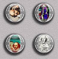 Writer William Shakespeare ART BADGE BUTTON PIN SET 1 (1inch/25mm Diameter) 35 DIFF - Celebrities
