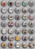 Writer William Shakespeare ART BADGE BUTTON PIN SET 3 (1inch/25mm Diameter) 35 DIFF - Celebrities