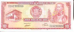 Peru  P-100b  10 Soles  1971  UNC - Pérou
