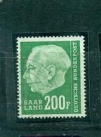 Saarland ,Heuss, Nr. 427 Gestempelt - French Zone