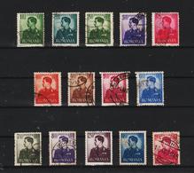 1940-42 Roi Michel Mi No 666/679   Complete - Gebraucht