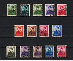 1940-42 Roi Michel Mi No 666/679   Complete - Usado