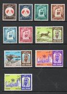 ARABIE DU SUD EST ABOU DHABI N° 27/37** Tous Sans Charniere Etat Sup Cote 80 Euros Net 15 Euros - Arabie Saoudite