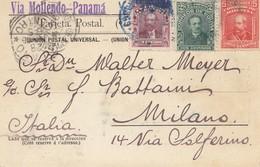 Bolivia/Bolivien: 1913 Post Card La Paz Via Mollendo-Panam To Milano/Italy - Bolivia