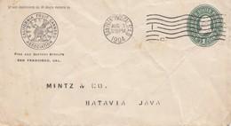 USA 1904: San Francisco Fruit Canners To Batavia, Java - Etats-Unis