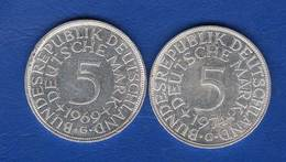 All  5  Mark  1969 G +1974 G - [ 7] 1949-… : RFA - Rép. Féd. D'Allemagne