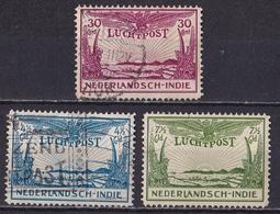 Nederlandsch Indië 1931 Allegorische Voorstelling Luchtpost Complete Gestempelde Serie NVPH LP 14 /16 - Indes Néerlandaises