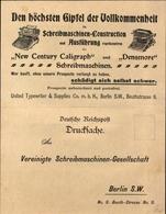 Klapp Cp Berlin, Schreibmaschinen Konstruktion, New Century Caligraph, Densmore, Berlin, Beuthstraße - Bâtiments & Architecture