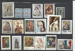 Lote De Sellos Del Tema Religioso Y Arte.y Personajes De Varios Países. - Sellos