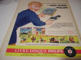 ANCIENNE PUBLICITE LIVRE DISQUE DE PHILIPS 1956 - Musique & Instruments